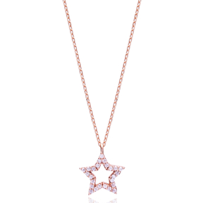 Minimal Star Pendant In Turkish Wholesale 925 Sterling Silver
