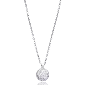 Minimal Round Pendant In Turkish Wholesale 925 Sterling Silver