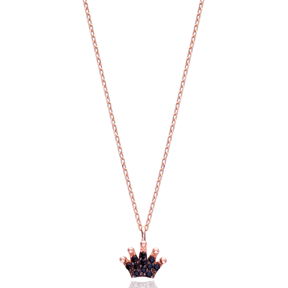 Minimal Crown Pendant In Turkish Wholesale 925 Sterling Silver