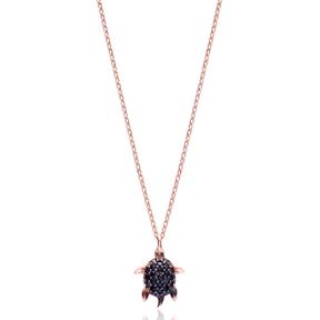 Minimal Turtle Pendant In Turkish Wholesale 925 Sterling Silver