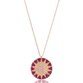 Sun Design Turkish Wholesale Handmade  925  Sterling Silver  Pendant