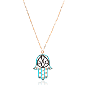 Hamsa Nano Turquoise Turkish Wholesale Sterling Silver Pendant