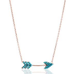 Nano Turquoise Turkish Wholesale Handmade 925 Sterling Silver Jewelry Arrow Pendant