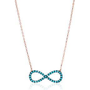 Nano Turquoise Turkish Wholesale Silver Infinity Pendant