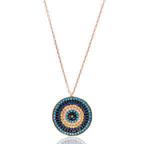 Round Turkish Wholesale 925 Sterling Silver Jewelry Evil Eye Pendant