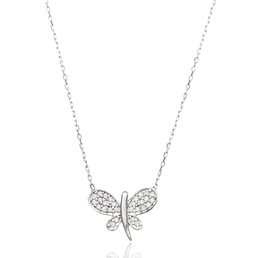 Butterfly Design Turkish Wholesale Handcrafted  925 Sterling Silver  Pendant