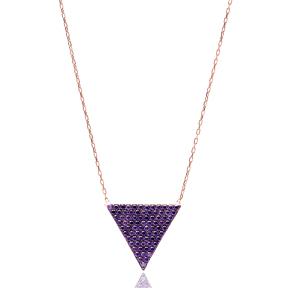 Triangle Turkish Wholesale Handmade 925 Sterling Silver Jewelry Pendant