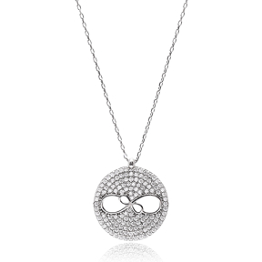 Turkish Wholesale Sterling Silver Infinity Pendant