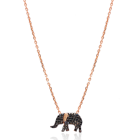 Turkish Wholesale Handcrafted Sterling Silver Elephant Pendant