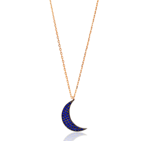 Moon Design Turkish Wholesale Sterling Silver Pendant