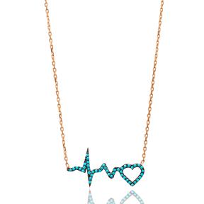 Turkish Wholesale Sterling Silver Heartbeat Pendant