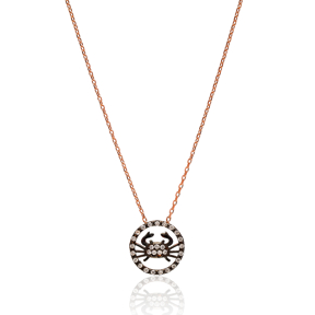 Turkish Wholesale Handcrafted Crab Silver Charm Necklace
