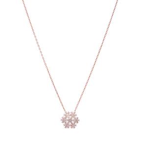 Turkish Wholesale Handcrafted Silver Zirconia Snowflake Pendant