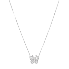 Butterfly Turkish Wholesale Handcrafted Silver Zirconia Pendant