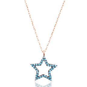 Micro Turquoise Turkish Wholesale Silver Star Pendant