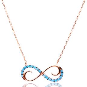 Micro Turquoise Turkish Wholesale Silver İnfinite Pendant