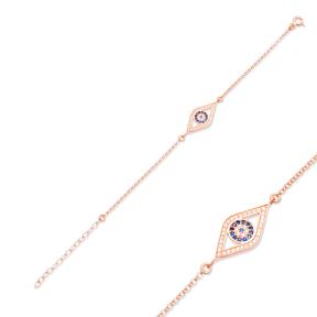 Evil Eye Design Bracelet Turkish Wholesale Handcraft 925 Sterling Silver Jewelry