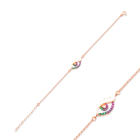New Rainbow Evil Eye Design Bracelet Turkish Wholesale Handcraft 925 Sterling Silver Jewelry