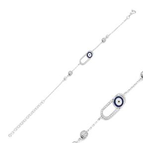 Evil Eye Bracelet Wholesale Handcraft 925 Sterling Silver Jewelry