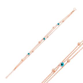 Elegant Evil Eye Design Wholesale 925 Sterling Silver Bracelet
