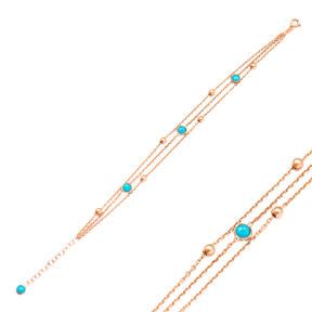 Turquoise Stone Bracelet Wholesale 925 Sterling Silver Jewelry