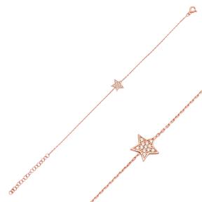Star Design Bracelet Wholesale 925 Sterling Silver Jewelry