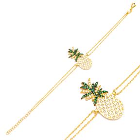 Pineapple Charm Design Bracelet Turkish Wholesale Handmade 925 Sterling Silver Jewelry