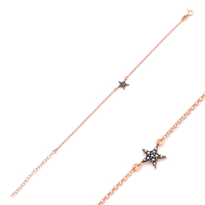 Minimalist Star Design Bracelet Turkish Wholesale Handcraft 925 Sterling Silver Jewelry