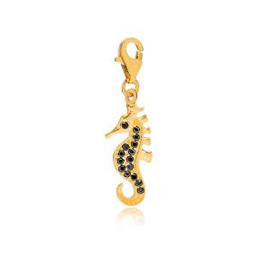 Seahorse Charm Wholesale Handmade Turkish 925 Silver Sterling Jewelry