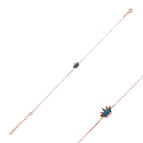 Micro Turquoise Turkish Wholesale Silver Crown Bracelet