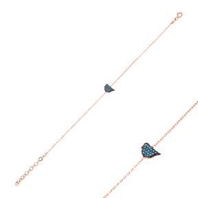 Micro Turquoise Turkish Wholesale Silver Bird Bracelet