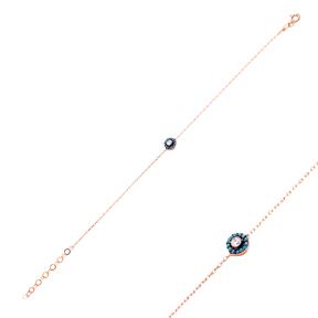Micro Turquoise Diamond Shape Turkish Wholesale Silver Bracelet