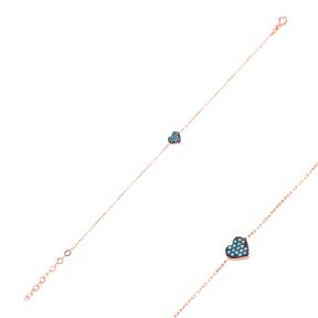 Micro Turquoise Turkish Wholesale Silver Heart Bracelet