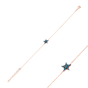 Micro Turquoise Turkish Wholesale Silver Star Bracelet