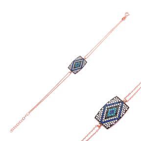 Sterling Silver Wholesale Handcraft Turkish Evil Eye Design Bracelet