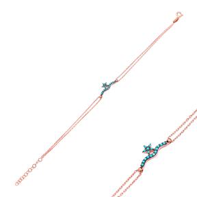 Star Sterling Silver Wholesale Handcraft Turkish Design Bracelet