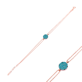 Sterling Silver Wholesale Handcraft Turkish Round Design Bracelet