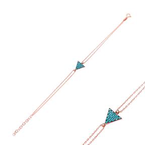 Sterling Silver Wholesale Handcraft Turkish Triangle Design Bracelet
