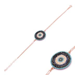 925 Sterling Silver Wholesale Handcraft Turkish Evil Eye Design Bracelet