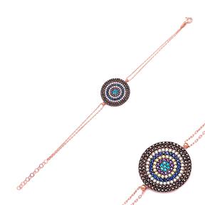 Sterling Silver Evil Eye Wholesale Handcrafted Turkish Design Bracelet
