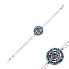 Sterling Silver Wholesale Handcrafted Evil Eye Turkish Design Bracelet