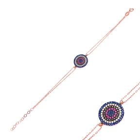 Sterling Silver Wholesale Handcrafted Turkish Evil Eye Design Bracelet