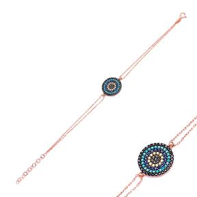 Evil Eye Sterling Silver Wholesale Handcraft Turkish Design Bracelet