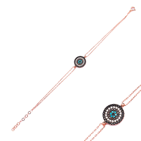 Evil Eye Sterling Silver Wholesale Handmade Turkish Design Bracelet