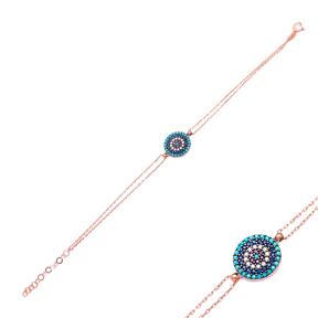 Evil Eye Wholesale Handmade Sterling Silver Turkish Design Bracelet
