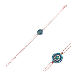 Evil Eye Wholesale Sterling Silver Handcrafted Turkish Design Bracelet