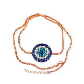 Sterling Silver Wholesale Handcraft Evil Eye Bracelet