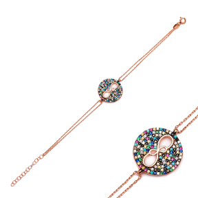 Round Infinity Silver Sterling Bracelet Wholesale Handcraft Jewelry