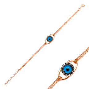 Glass Evil Eye Silver Sterling Bracelet Wholesale Handcraft Jewelry