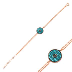 Evil Eye Silver Sterling Bracelet Wholesale Handcraft Jewelry